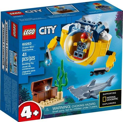 Brinquedo Blocos Lego 60263 City Mini-submarino Oceanico