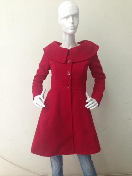 Abrigo Mujer Corte Princesa Rosa Negro Rojo