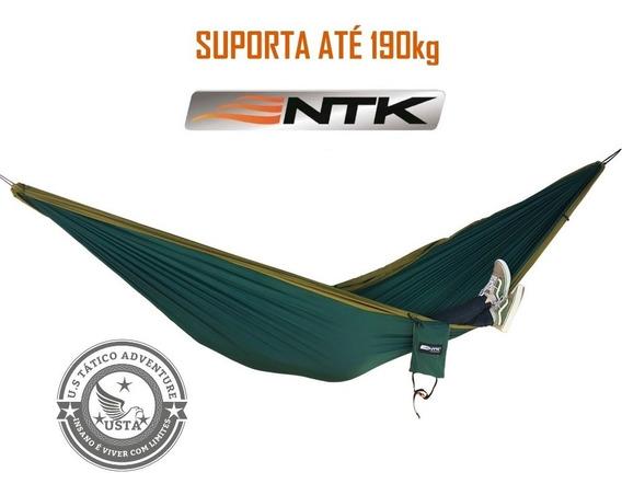 Rede Descanso King Size 190kg Verde/cinza Nautika Camping Uv