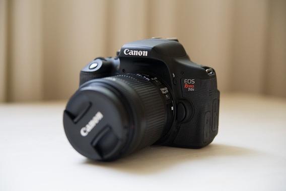 Câmera Canon Eos T6i + Lente 18-55mm (seminova)