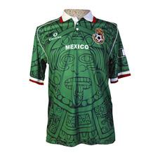 b098434571 Playera Fútbol México Sol Azteca Verde Retro Cruzeiro