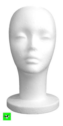 Cabeza De Maniquí Exhibidor De Espuma Plast