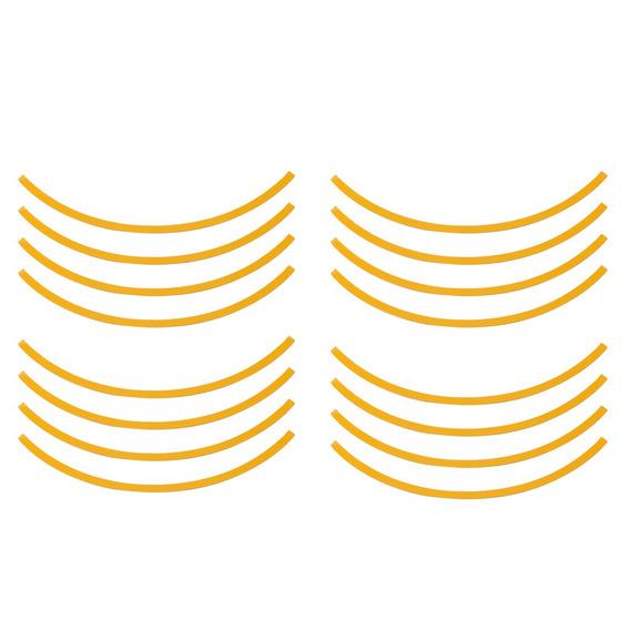16 Pcs Carro Amarelo Roda Centre Cubo Decorativo Aparar Círc