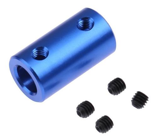 Imagem 1 de 5 de Acoplador Alumínio Impressora 3d 5x8mm Azul