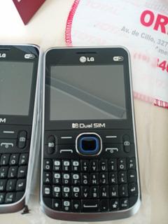 6 Aparelhos LG C397 Dual Chip, Câmera 2mp, Mp3 Player Usado