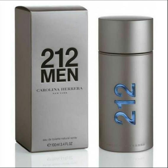 Perfumes Caballeros 212 Men Carolina Herrera 100 Ml Colonias