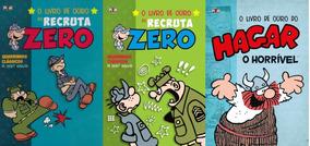 Hq Livro De Ouro Do Recruta Zero E Hagar Lote C/ 3 Vols.