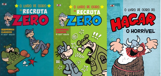 Hq Livro De Ouro Do Recruta Zero + Hagar Lote C/ 3 Vols.