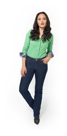 Calça Jeans Feminina Country Super Stone Pura Raça 4539