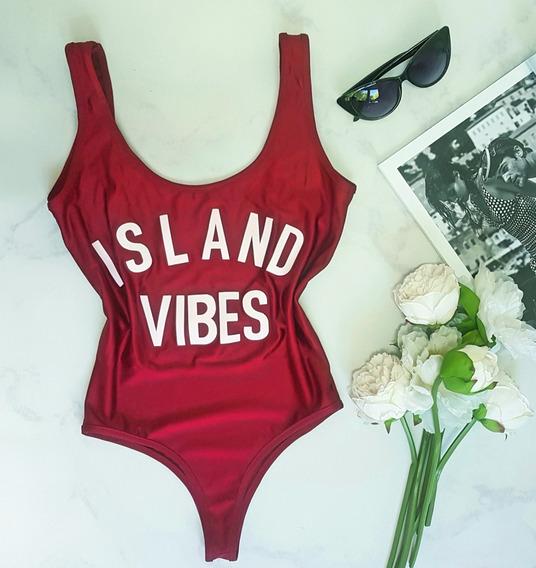 Body Mujer Bodysuit Musculosa Sin Espalda Dama Island Vibes