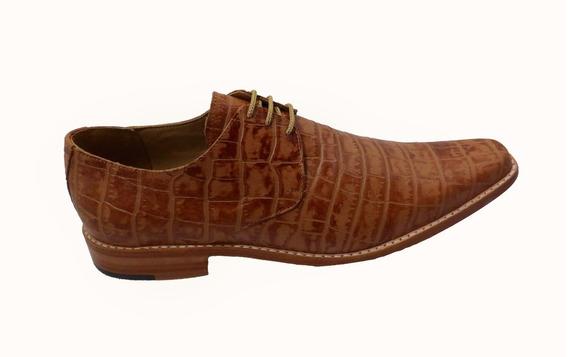 Calzado Zapato Cuero Croco. Art 1260