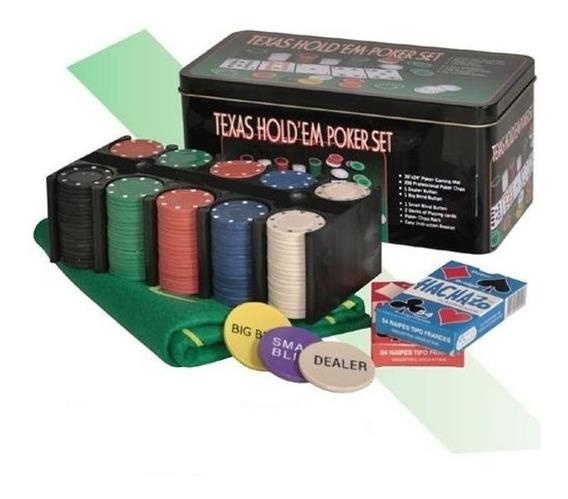 Set De Poker Old Player Caja Metalica 200 Fichas
