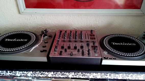 Par Toca Disco Technics Sl 1600 + Mixer Djx 700