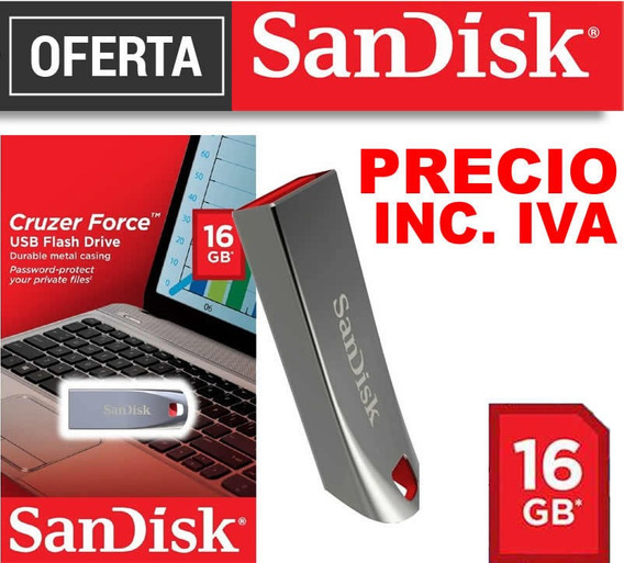 Flash Memory Sandisk 16gb 100% Originales Precio Inc Iva