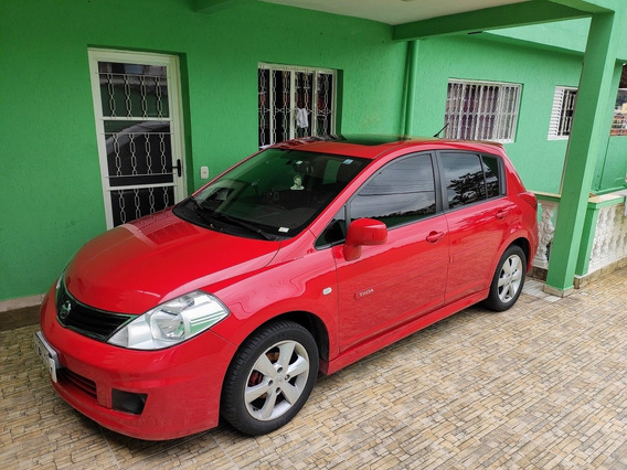 Nissan Tiida 1.8 Sl Vermelho Automático Flex Teto Solar