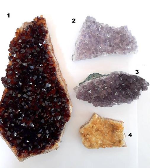 Lote Com 4 Pedras Naturais Ametistas Colecionador N°2