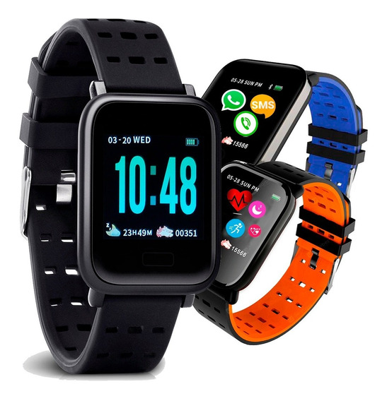 Relógio Pulseira Inteligente Touch Pressão Monitor Cardíaco