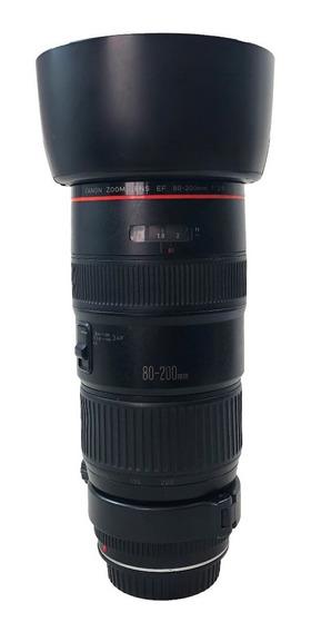 Lente Canon 80-200mm F/2.8 L Usada Lojista Garantia Promoção