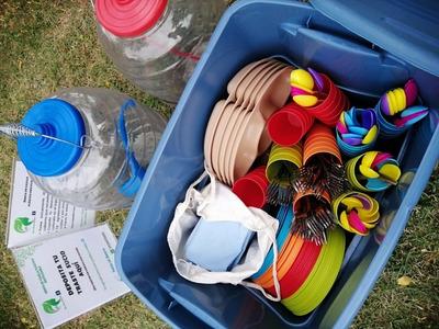 Renta De Vajilla Plástica Reutilizable Para Fiestas