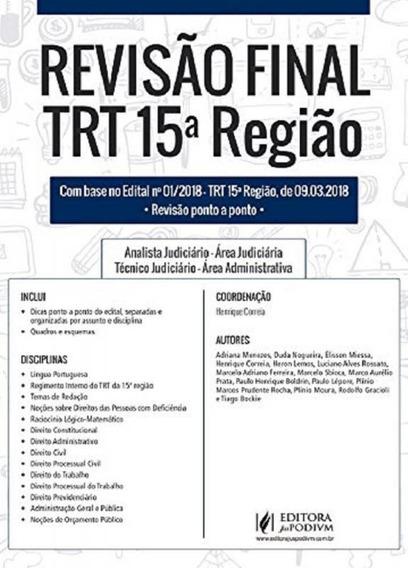 Revisao Final - Trt 15 Regiao - Juspodivm