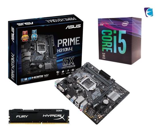 Kit Intel Core I5 8400 Asus Prime H310m E Hyper X 4gb Fury I
