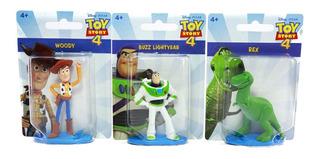 Set 3 Figuras Toy Story 4 Coleccion Buzz Woody Rex