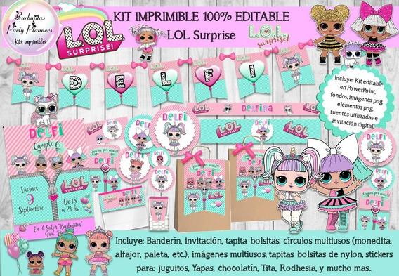 Kit Imprimible Candy Bar Lol Surprise 100% Editable