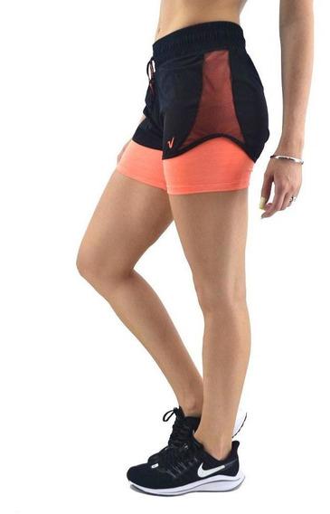 Short Vandalia Mujer Running Con Tull Y Color I