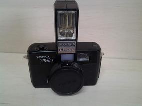 Máquina Fotográfica Antiga Yashica Me1 Com Flash E Estojo