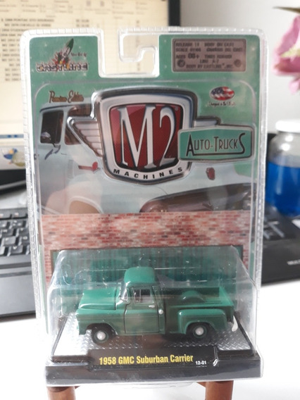 Miniatura M2 Machines Gmc Suburban Carrier 1958 1/64 Loose