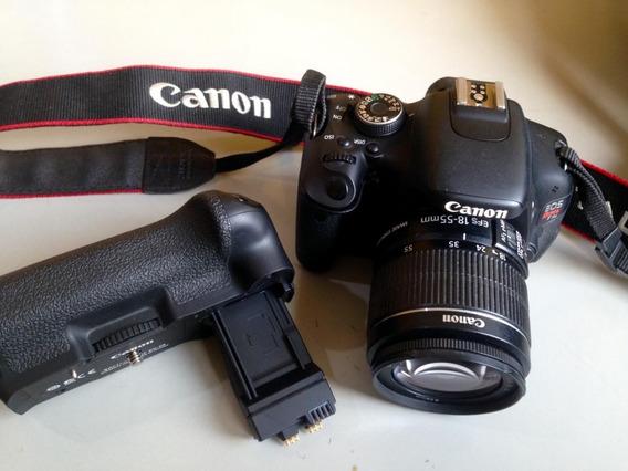 Câmera Profissional Canon T3i Rebel C/ Acessórios Barata Bom