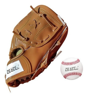 Set Guante Baseball Bsl Pelota Beisbol 11.5 Pulgadas Import