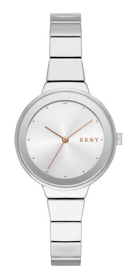 Reloj Dama Dkny Ny2694 Color Plata De Aleaciones De Metal