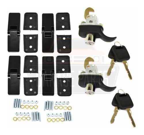Imagem 1 de 3 de Kit 4 Dobradiças Pretas + 2 Fechos Capô Buggy Gurgel Pretos