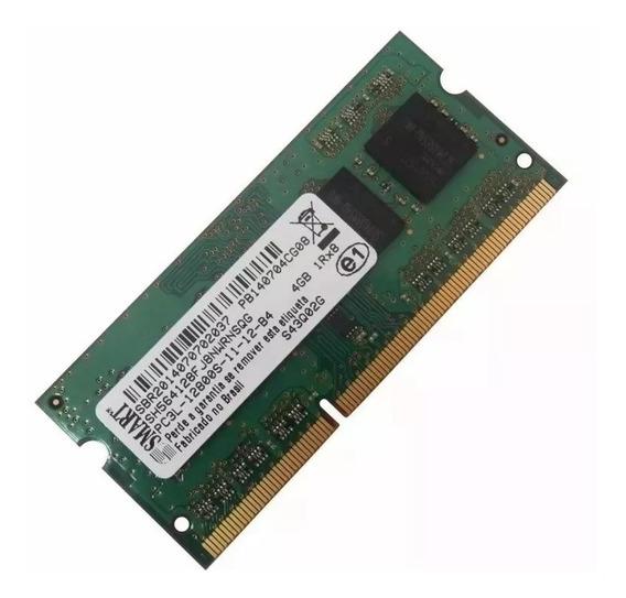 Memoria 4gb Notebook Smart Mac Ddr3l Pc3l 12800s 1600mhz Nov