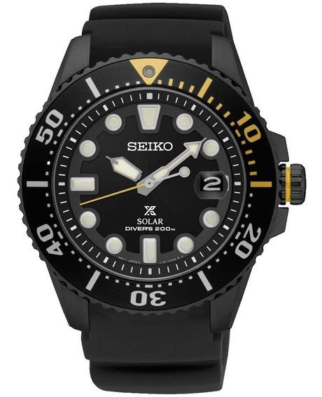 Seiko Prospex Solar Diver Black Sne441p1 Sne441 200m Top !!!