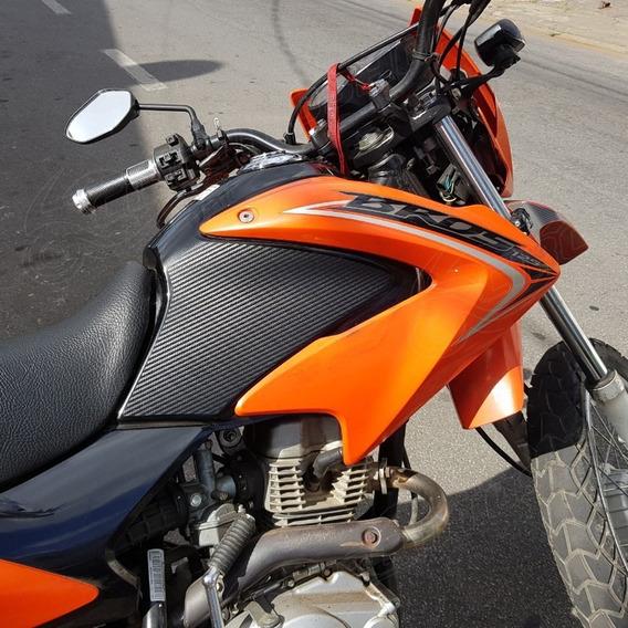 Adesivo Protetor Tanque Lateral Carb Moto Honda Bros 125 150