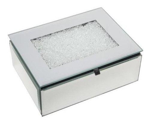 Porta-jóias De Madeira C/ Espelho 16x12x6cm