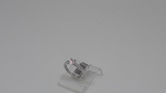 Anel Solitário Prata C/ Zirconia 18ft