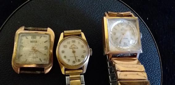 Lote 3 Relógios De Pulso Feminino A Corda