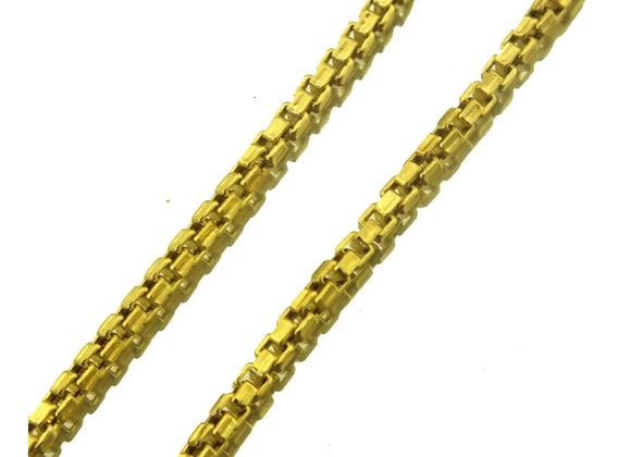 Oferta Corrente Unissex Elo Quadrado Em Ouro 18k 55cm J20700