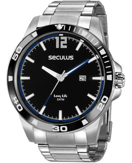 Relógio Masculino Seculus 2 Anos De Garantia 20790g0svna3