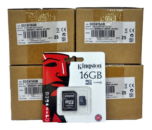 Memoria 16gb Kingston Clase 4 Sellada Orgnal Caja 100 Unidad