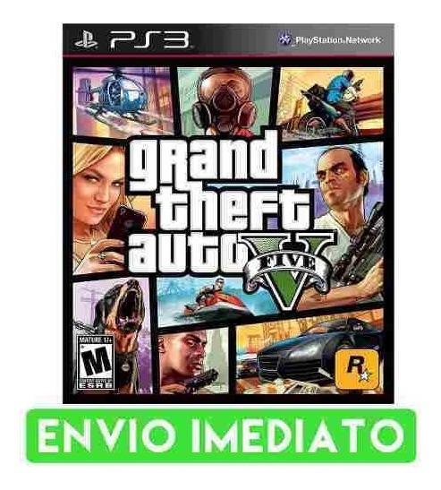 Gta V Grand Theft Auto V Ps3 Mídia Digital Envio Imediato