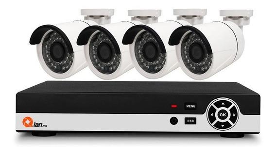 Kit Vigilancia Qian 4 Camaras / 4 Canales Pentahibrido (qkc4d41901)