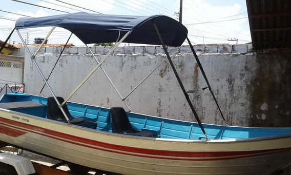 Barco De Alumínio + Motor Yamaha 15 Hp + Carreta Rodoviária