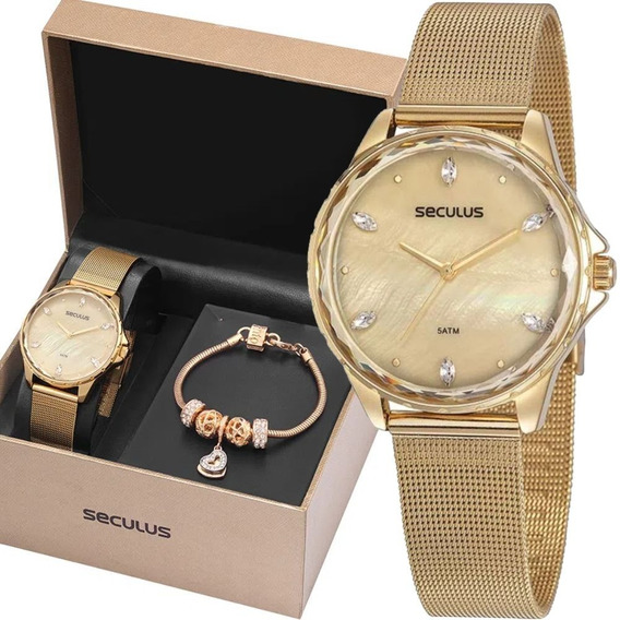 Relógio Seculus Feminino 77069lpskds1k1