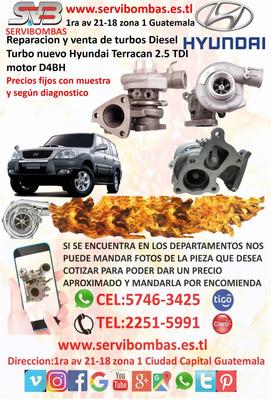 Venta De Turbos Diesel Hyundai Terracan 2.5 Tdi Guatemala