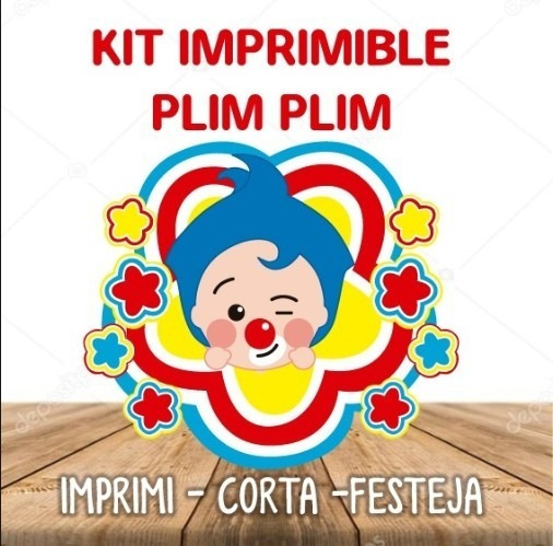 Kit Imprimible Plim Plim Cotillon + Candy