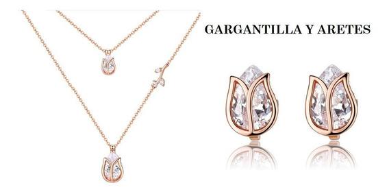 Hermosa Y Elegante Gargantilla Swarovski Envió Gratis